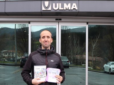 Aritz Ugarte, winner of the sweepstakes for the photography contest of the ULMA Group