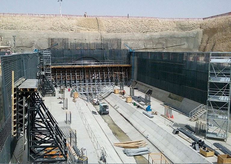 Comprehensive formwork and scaffolding systems at Riyadh Metro