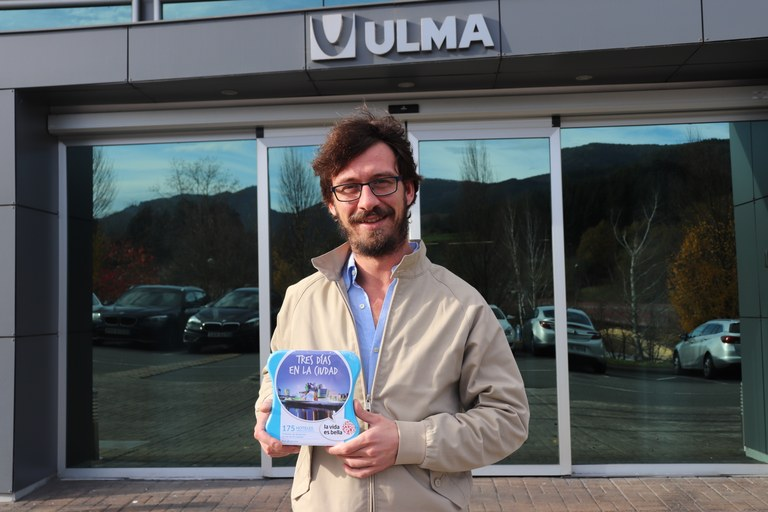 Javier Pérez, winner of the draw of the ULMA Group's photography contest