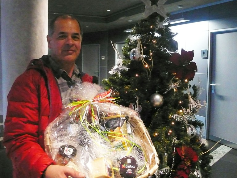 Jose Venegas, winner of the ULMA Group photography competition prize draw.