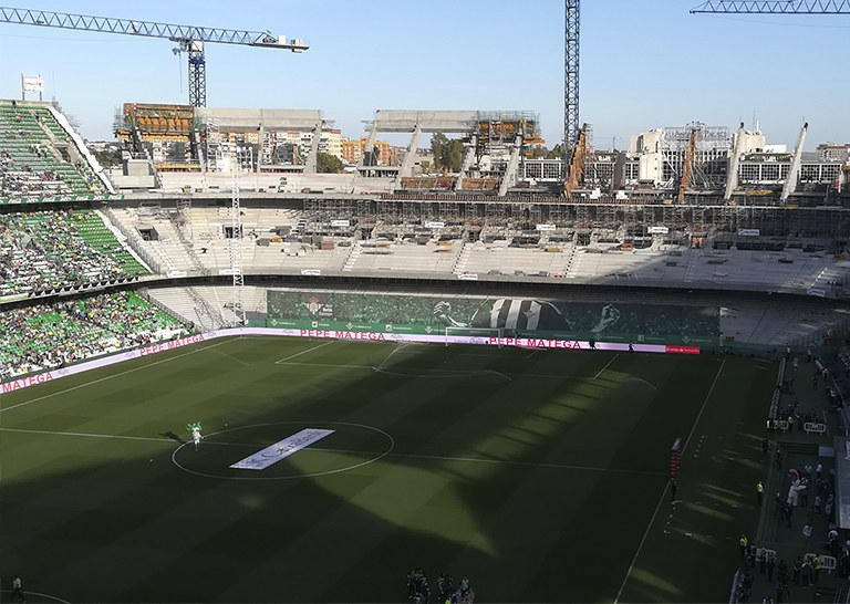New Grandstands in the Benito Villamarín Stadium