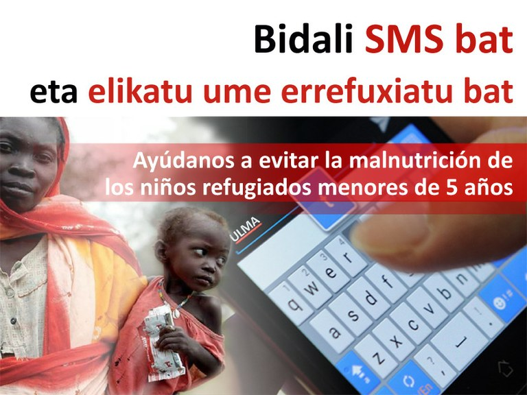 Send an SMS and help feed a refugee child!
