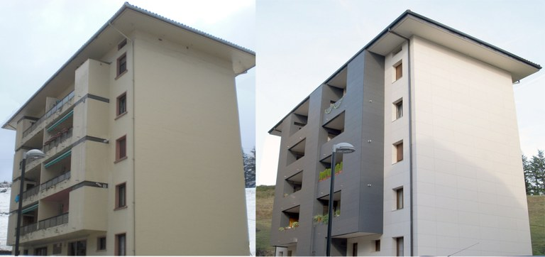 Solving dampness issues and a major upgrade, refurbishing the facade with ULMA