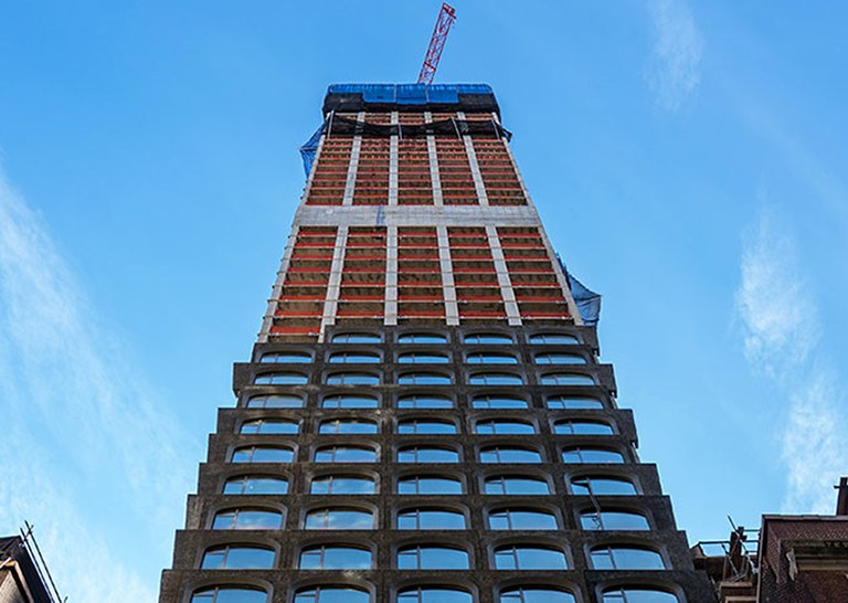 The building of 130 William Tower will redefine the Lower Manhattan skyline