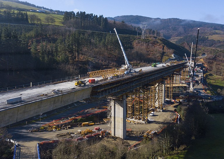 The modular nature of ULMA formworks key in the Antzuola viaduct