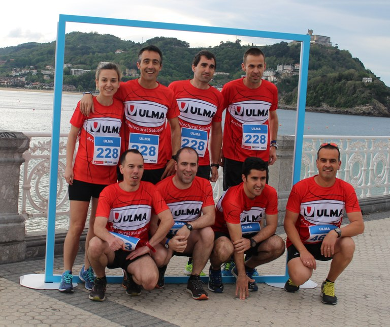 ULMA Architectural Solutions at the business race organised by Adegi, El Diario Vasco and Donostia Eventos