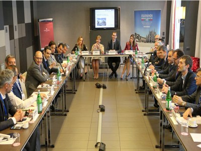 ULMA Architectural Solutions has attended the inauguration of the new Basque Internationalitation office in Milan