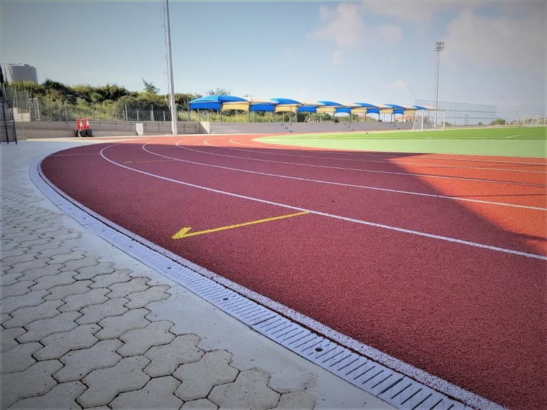 ULMA channels for the new sport area at Foley's School in Cyprus