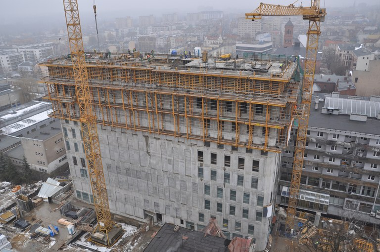 ULMA Construction provides a comprehensive service for Poznan's Nobel Tower