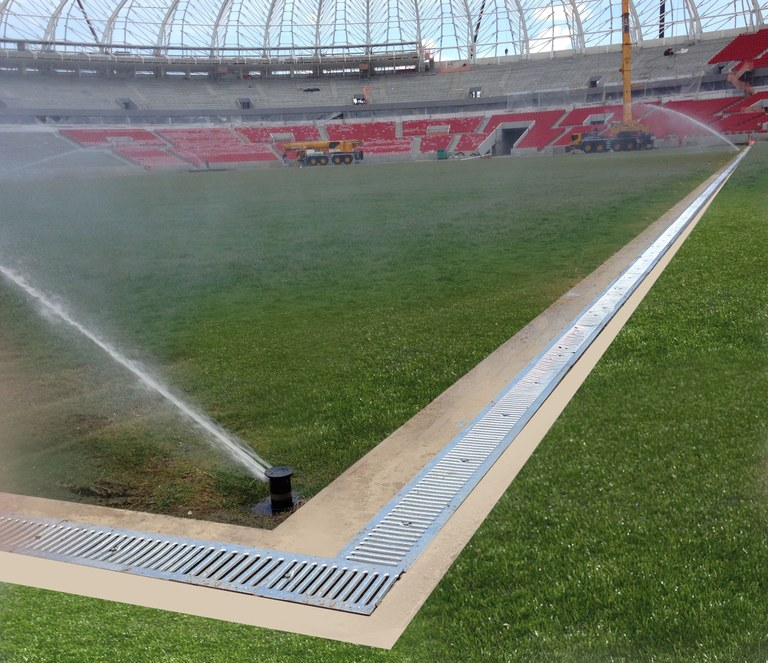 ULMA Drainage Channels at Brazil's Estádio Beira Rio, a 2014 World Cup venue