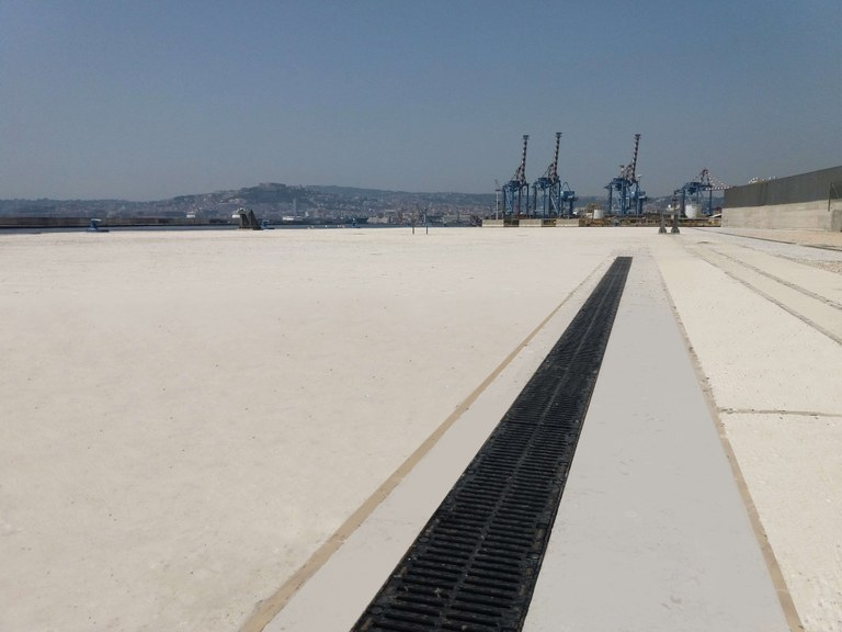 ULMA drainage channels in the Port of Naples, Italy