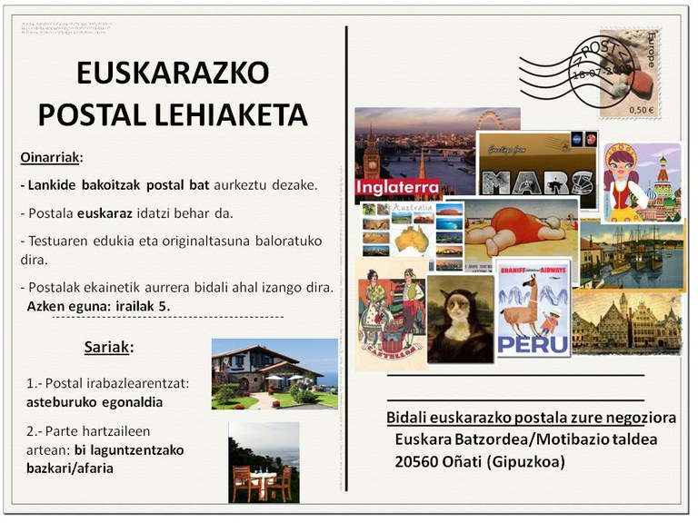 ULMA Group Basque Motivation Committee has organised a Basque postcard competition for all ULMA employees