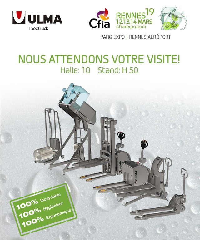 ULMA Inoxtruck to participate in the 23rd edition of CFIA Rennes