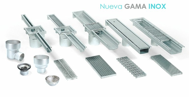 ULMA presents the new STAINLESS STEEL RANGE: stainless steel drainage channels, pipes, sumps and covers for the industrial sector