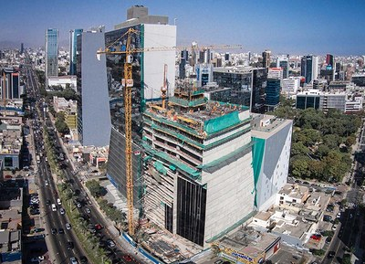 ULMA takes part in the construction of the sustainable building Javier Prado Tower in Lima
