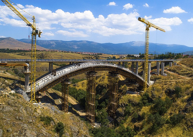ULMA takes part on the construction project of Eresma Arched Bridge in Segovia