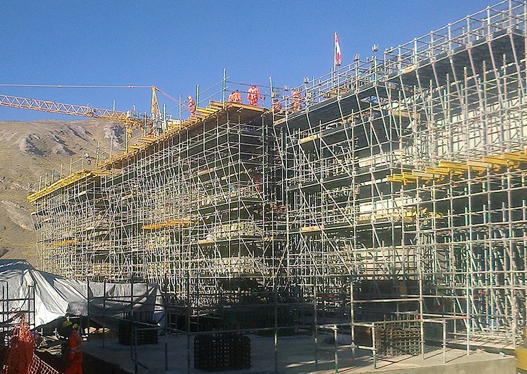 ULMA's comprehensive solution in the construction project of Pachachaca Lime Plant located in Peru