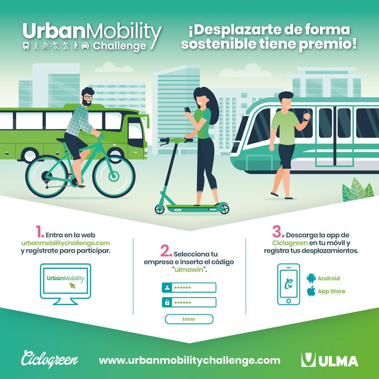 We encourage ULMA people registered in the Ciclogreen programme to participate in the Urban Mobility Challenge to improve our current fourth position