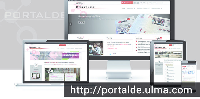 The new PORTALDE, accessible to all workers from anywhere with internet access
