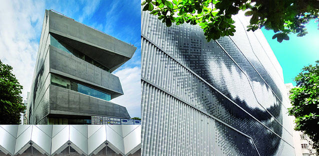 "ULMA ventilated facade installed on the Río de Janeiro ""Museum of Image and Sound 