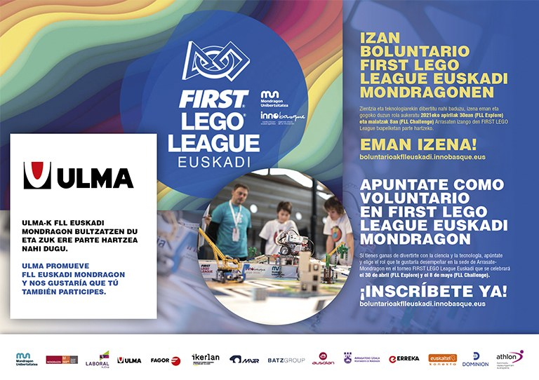 Apúntate como voluntario/a en First Lego League Euskadi Mondragon
