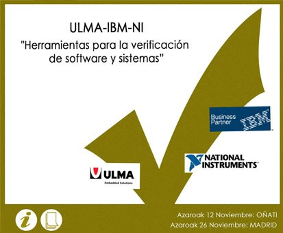 IBM, National Instruments and ULMA Embedded Solutions organise a training event
