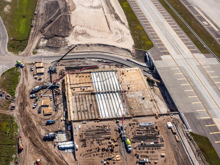 Pre-assembled solutions at the Tampa International Airport, USA