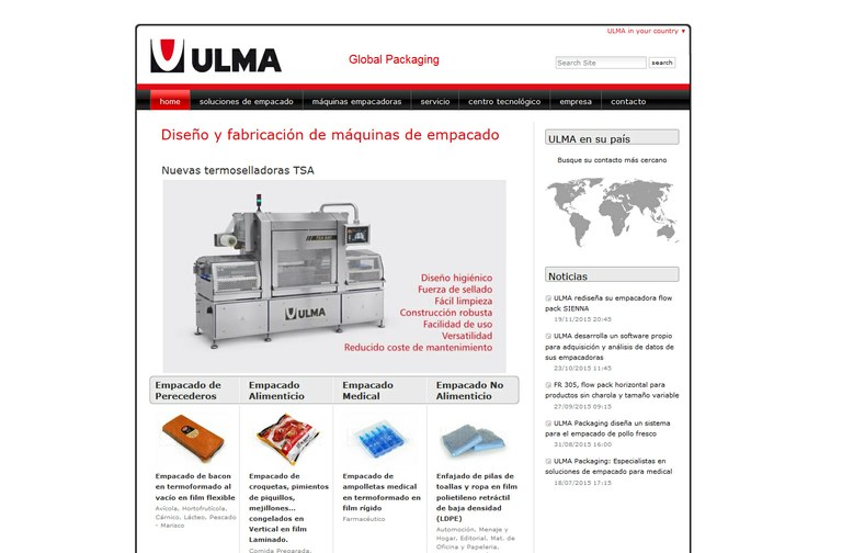 ULMA Packaging launches a new website for Latinoamerica
